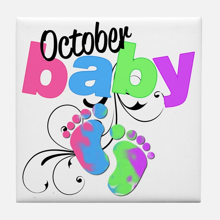 oct baby Tile Coaster