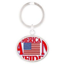 AMERICAN INFIDEL Oval Keychain