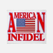 AMERICAN INFIDEL Throw Blanket