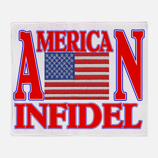 AMERICAN INFIDEL Throw Blanket