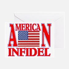 AMERICAN INFIDEL Greeting Card