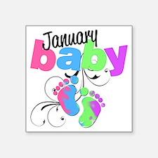 "Jan baby Square Sticker 3"" x 3"""