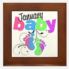 Jan baby Framed Tile