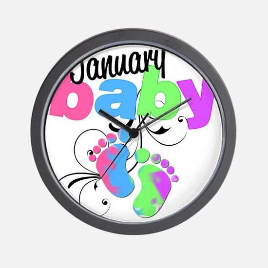 Jan baby Wall Clock