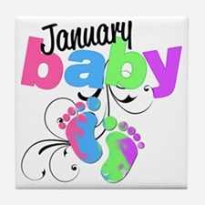 Jan baby Tile Coaster