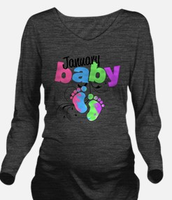 Jan baby Long Sleeve Maternity T-Shirt