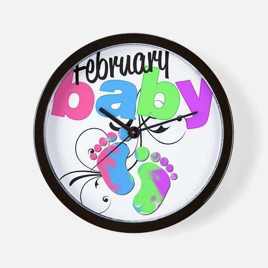 Feb baby Wall Clock