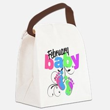 Feb baby Canvas Lunch Bag