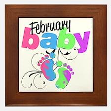 Feb baby Framed Tile
