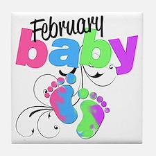 Feb baby Tile Coaster