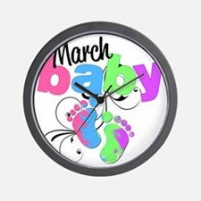 march baby Wall Clock