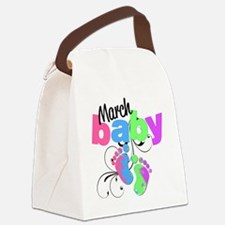 march baby Canvas Lunch Bag