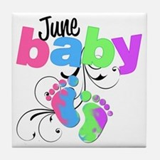 june baby Tile Coaster
