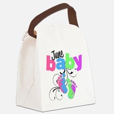 june baby Canvas Lunch Bag