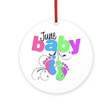 june baby Round Ornament