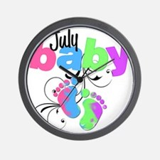 july baby Wall Clock