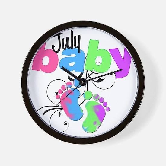 july baby Wall Clock