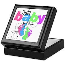 july baby Keepsake Box