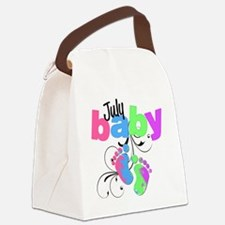july baby Canvas Lunch Bag