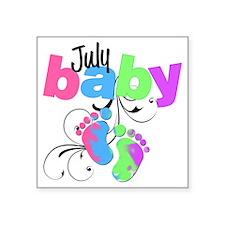 "july baby Square Sticker 3"" x 3"""
