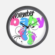 nov baby Wall Clock