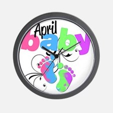april baby Wall Clock