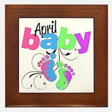 april baby Framed Tile