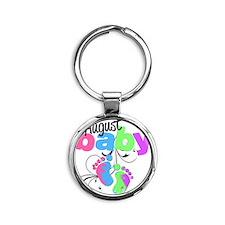 august baby Round Keychain