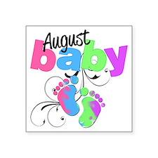 "august baby Square Sticker 3"" x 3"""