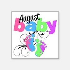 "august baby Square Sticker 3"" x 3"""