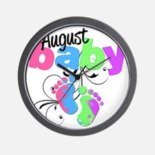 august baby Wall Clock
