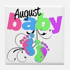august baby Tile Coaster
