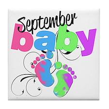 sep baby Tile Coaster