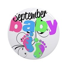 sep baby Round Ornament
