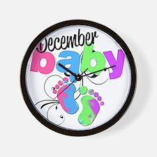 dec baby Wall Clock