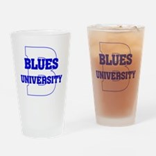 Blues University Drinking Glass
