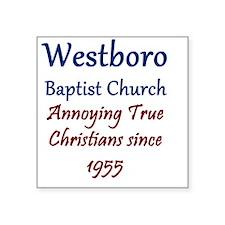 """Westboro1 Square Sticker 3"""" x 3"""""""