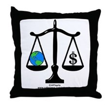 Earth Balance Throw Pillow