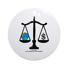 Earth Balance Ornament (Round)