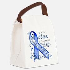 I Wear Blue Because I Love My Dau Canvas Lunch Bag