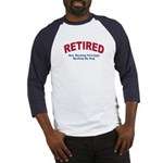 RetiredWorkingPTSpoilingDog Baseball Jersey