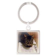 reading 4 x 4 Square Keychain