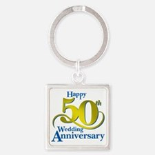 50thAnniversaryLogo2 Square Keychain