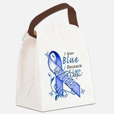 I Wear Blue Because I Love My Wif Canvas Lunch Bag