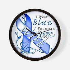 I Wear Blue Because I Love My Wife Wall Clock