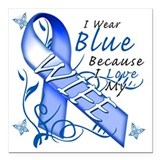 Colon cancer Square Car Magnets