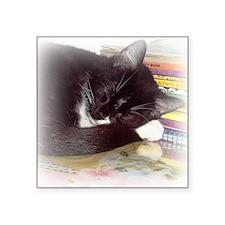 "sleeping 10x10 Square Sticker 3"" x 3"""