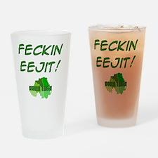 t-shirt-10x10-eejit Drinking Glass