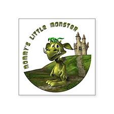 "Mommys Little Monster Square Sticker 3"" x 3"""