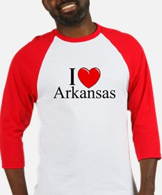 """I Love Arkansas"" Baseball Jersey"